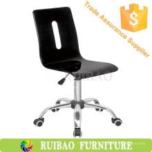 Простой черный кухонный поворотный стул Акриловые барные стулья с высоким качеством