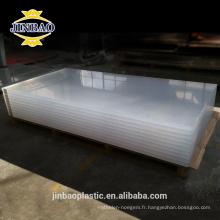 JINBAO qualité sanitaire facile à laver clair couleur lait 3mm feuille acrylique