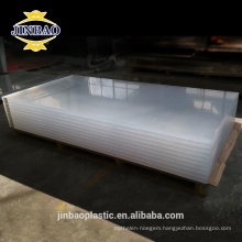 JINBAO sanitary grade easy washing clear color milk 3mm acrylic sheet