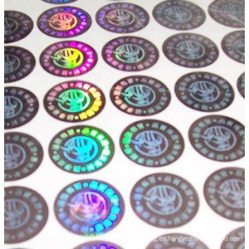 Etiqueta engomada de encargo caliente del holograma de la etiqueta engomada 3D del holograma de Shangai