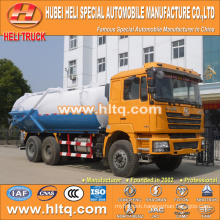 SHACMAN F3000 6x4 20000L vacuum suction sewage truck WEICHAI diesel engine 290hp