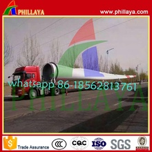 Flatbed Extendable Wind Turbine Tower Transport Semi-Trailer Tobular to Namibia