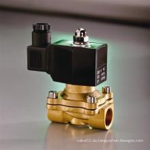 Serie 2W Tipo de enclavamiento DC24V Válvula solenoide de ariete de agua