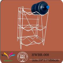 Fábrica de chapa de metal 3 níveis de garrafa de água de 6 galões / Estante de exposição