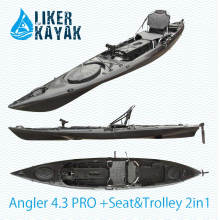 Pescador 4.3 Kayak de pesca con la posición del buscador de los pescados, motor disponible