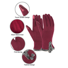 Winter women touch screen warm protective gloves