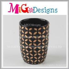 Taza de cerámica de alta calidad Copa de venta superior de diseño dorado