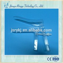 Disposable plastic speculum vaginal for woman use