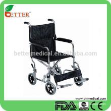 Хромированный стальной транспорт Ортопедическая инвалидная коляска