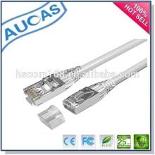 AUCAS mejor calidad de cable de red ethernet / systimax amplificador de pasar la solapa cable plano patch / cat5e utp rj45 de cobre varados