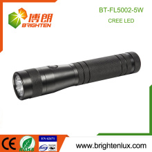 Factory Supply Emergency Camping Usage Aluminum Handheld Portable 2D Battery Operated 5watt Best Cree strong light flashlight