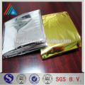 reflective mylar PET film/aluminum foil laminating film/gold metalized pet film