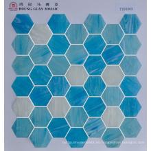 Mosaico de vidrio para materiales de construcción