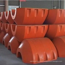 Orange pipeline floaters with OEM service