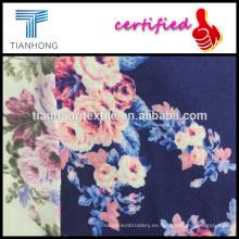 diseño floral rosa alta calidad 100 algodón estampado de franela para la confección de pijamas