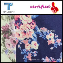 design floral rose haute qualité 100 coton imprimé flanelle pour pyjama babywear