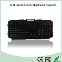 ABS Materials Brightness Adjustment LED Teclados de jogos iluminados (KB-1901EL-LB)