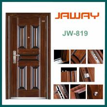 Diseño moderno de la puerta de acero inoxidable de la casa moderna, puerta de seguridad de acero