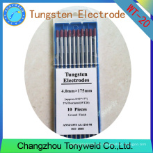 WT-20 2% Thoriated ROJO 4,0 mm 5/32 '' TIG electrodos de tungsteno