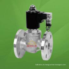 Válvula solenoide de acero inoxidable (GAZBSF)