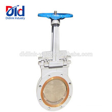 Resilient Automatic Leaking Italy Slab Roller Actuated Carbon Steel 4 Flanged Knife Gate Valve Cv