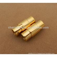 BX111 Оптовые ювелирные изделия нержавеющей стали находящ золото Стальной магнитный замок фермуара для ожерелья браслетов веревочки