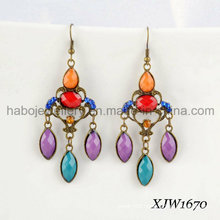 Fashion Colorful Retro & Exoticism Dropping Earrings (XJW1670)