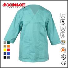 Uniforme médico de venda quente do algodão para o doutor ou a enfermeira