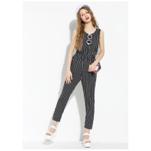 2015 New Arrival Special Design Stripe Jumpsuit para as Mulheres