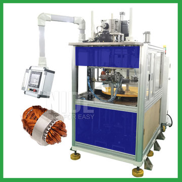 Generator stator coil winding inserting machine