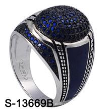 El anillo más nuevo de la joyería de la plata de la venta al por mayor 925 de la fábrica del modelo para los hombres (S-13669B)