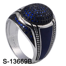 Newest Model Factory Wholesale 925 Silver Jewelry Ring for Men (S-13669B)