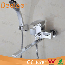 Contemporary Wall Mounted Bath Taps with Hose and Handset