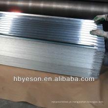 Chapa de aço galvanizado ondulado