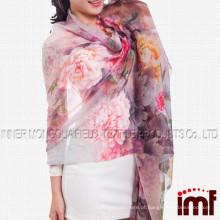 Moda feminina Scarf Digital impresso longo Stole Modal Cashmere tecido