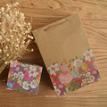 Flower Kraft Paper Gift Bag with Handle Colorful Printing Wedding Party Bag Gift Paper Bags