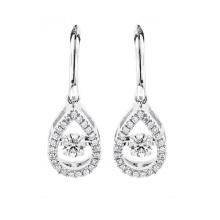 Boucles d'oreilles en argent sterling 925 avec diamant de danse en gros