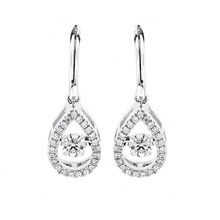 925 Silver Stud Earrings with Dancing Diamond Wholesale