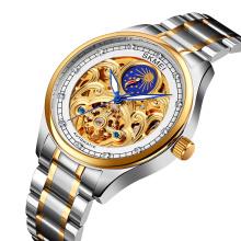 2020 SKMEI M025 Mens Luxury Stainless Steel Skeleton Analog Watches Automatic
