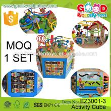 2016 Новый продукт EN71 / ASTM Квалифицированные детские игрушки для обучения Учебный деревянный куб для детей для детей