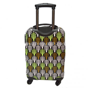 ABS&PC Printing Luggage Set Aluminum Trolley