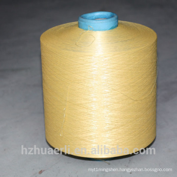 DTY dope dyed yellow polyester yarn 300D/96F HIM