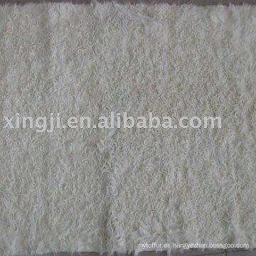 Placa de piel de cordero Kalgan blanco natural
