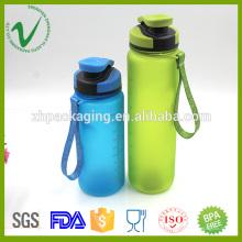 Tritan cylindre vide sport large bouche claire 500ml PCTG bouteille d'eau