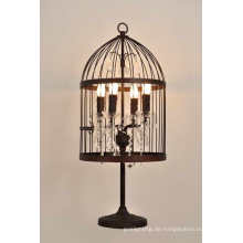Dekorative Eisen Birdcage Tischlampe (MT2001-4LRR)