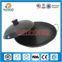não-fumantes antiaderente aço carbono wok chinês