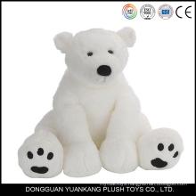Customized soft toy white polar bear plush