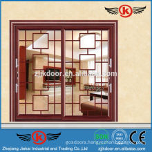 JK-AW9116 two glass panel interior door aluminum sliding door