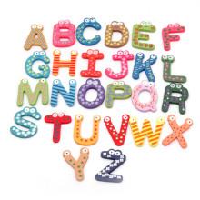 FQ marca decoración niño niños personalizado alfabeto de madera imán de nevera