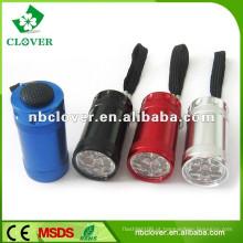 12000-15000MCD 6 LED levou mini lanterna de alumínio